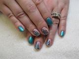 Sea blue and foil