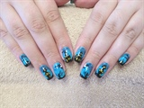 Halloween nail art freehand (from 2015)