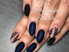 Matte, Navy And Black Almonds