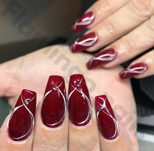 Rouge/blanc / Diamants