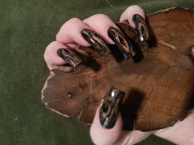 polished woodgrain