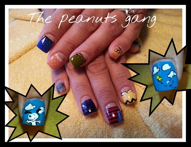 my other Bffs nails! Peanuts!