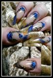 stiletto blue rose