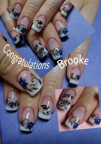 Brooke S Graduation Nails Nail Art Gallery