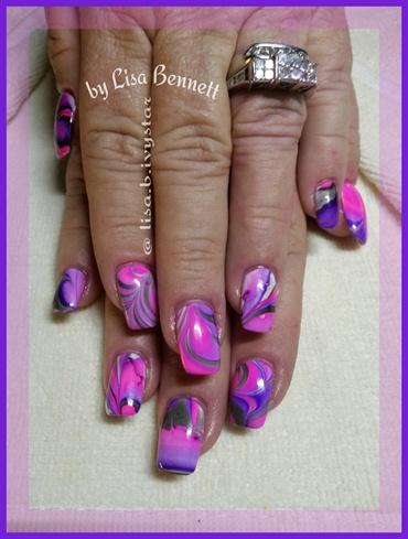 Pink~Purple water marble