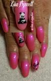 Hot Pink Panda set