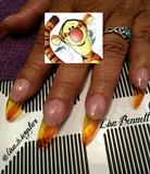 Tina's Tigger nails pre-tigger