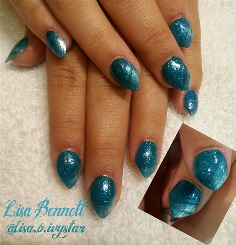 Blue water-Baby stiletto