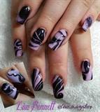 purple/Black marble