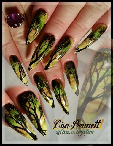 Forest stilettos