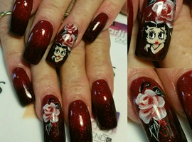 Betty Boop and floral
