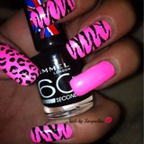 Hot Pink Zebra& Leopard Mix