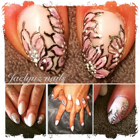 French-fade-nails, pinknaildesign, flow