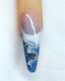Summer Bahama Ocean Nails
