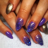 Purple Gold Glitter