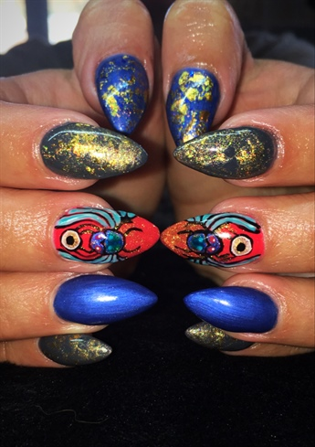 Lux Egyptian Theme Nails