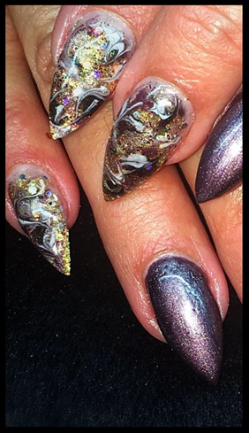 Mixed Metals Gel Encapsulated Glitter