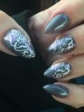 Grey Henna Design