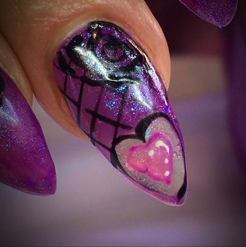 chameleon polish,purpleblackroses,
