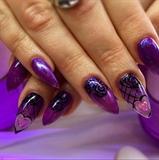 chameleon polish,purpleblackroses