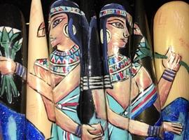 """EGYPTIAN BEAUTIES"" #nailart #nailmural"