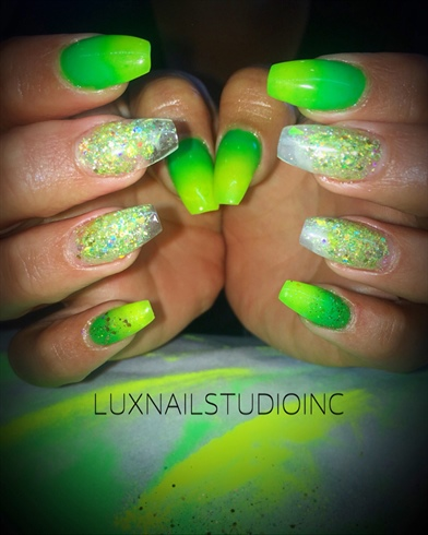 Neon Green Ombre