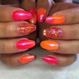 Soft Neon Orange Ombre