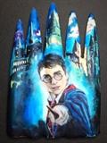 Harry Potter Nail Mural