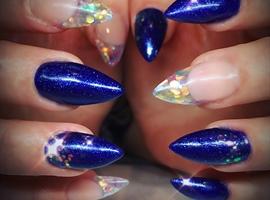 nail art: Christmas Lights