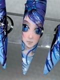 Blue Butterfly Girl