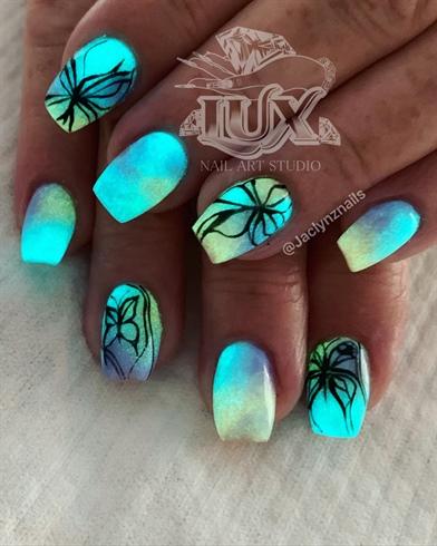 Glowing Butterflies