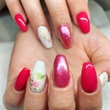 Pink roses Water Decals