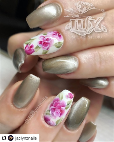 Handpainted Roses