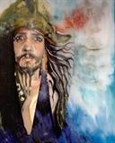Handpainted Captain Jack Sparrow