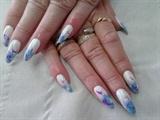 Gelish nail art design.