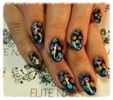 Pigment dot nails.