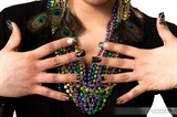 Mardi Gras Inspired Nail Art