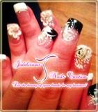 simple bridal nails