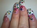 long nails animal print