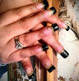 Прочее - Виды дизайна ногтей - черный френч и золото.