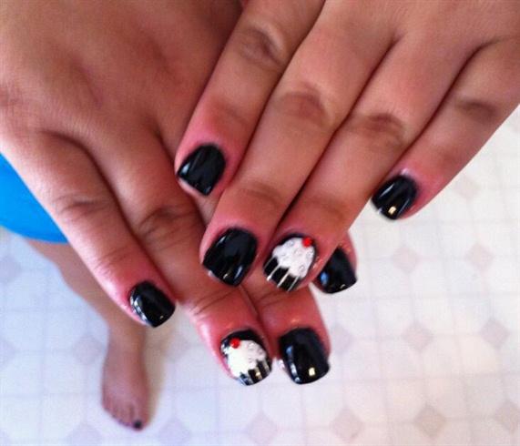 Black cupcake nail art gallery black cupcake prinsesfo Gallery