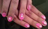 polish nails /w hello kitty stickers
