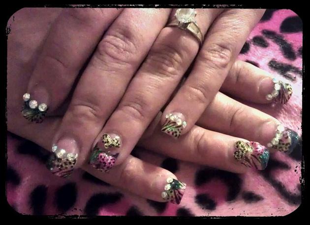 more multiglitter nails