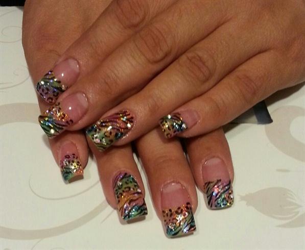 flora's multi color nails