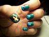 Mermaid and Waves nails