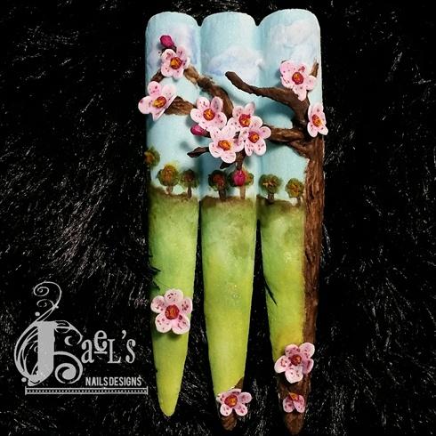 Acrylic 5D Cherry Blossom