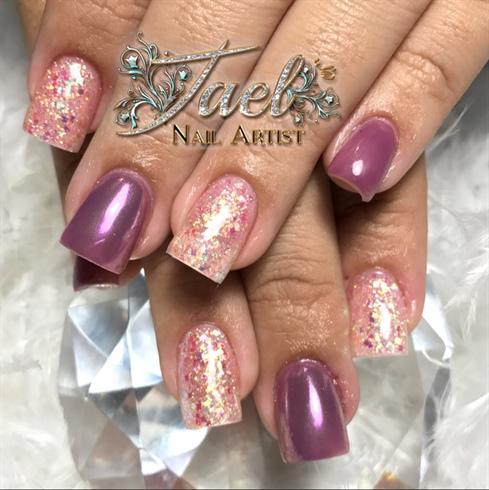 Purple & Glitter