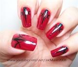 Dark Red Sexy Nails-Halloween Design
