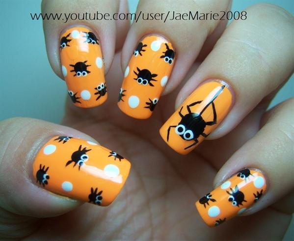Polka Dot Spiders-Halloween Design - Polka Dot Spiders-Halloween Design - Nail Art Gallery