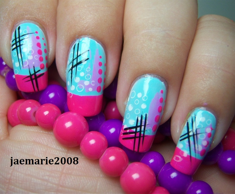 Funky Abstract Nail Design - Nail Art Gallery